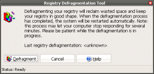 Registry Defragmentation Tool